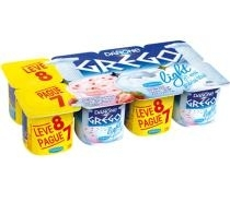 DANONE GREGO LIGHT ORIGINAL E MORANGO 800G L8P7