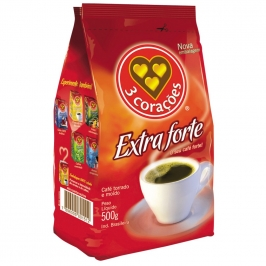 CAFE 3 CORACOES EXTRA FORTE 500G