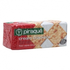 BISCOITO PIRAQUE CREAM CRACKER 200G