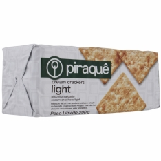 BISCOITO PIRAQUE CREAM CRACKER LIGHT 200G