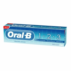 CREME DENTAL ORAL B 1 2 3 70g