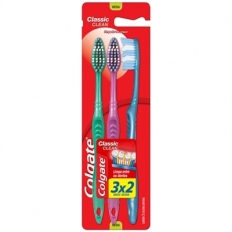 ESCOVA DENTAL COLGATE CLASSIC CLEAN 3X2 MEDIA