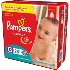 FRALDA PAMPERS SUPERSEC G C/26