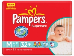 FRALDA PAMPERS SUPERSEC M C/32