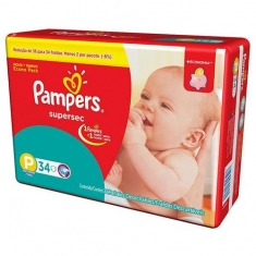 FRALDA PAMPERS SUPERSEC P C/34