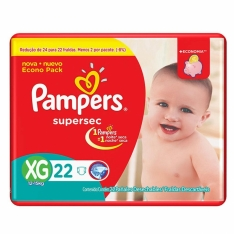 FRALDA PAMPERS SUPERSEC XG C/22